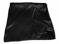 Black Label Ralph Lauren Silk Black Polo Italy Pocket Square Scarf