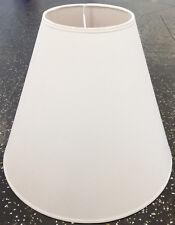 Lampenschirm Stehleuchte Hängeleuchte Stoff Textil Baumwolle Ø30cm Rund Weiß