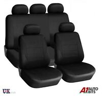 Car Seat Covers Full Black Set Piping Low Back For Nissan Juke Primera Qashqai