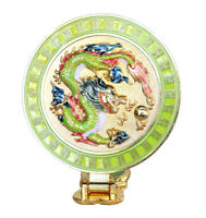 Feng Shui Dragon Mirror with Wish-Granting Mantra