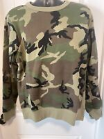 Nike SB Camo Crew Sweatshirt Mens Size Medium Army Skate Dunk Camouflage New
