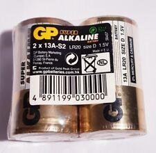 2x 13A-S2 GP Super Alkaline Battery Size D 1.5V