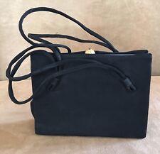 After Five vintage purse black evening bagmid century satin handle mid century