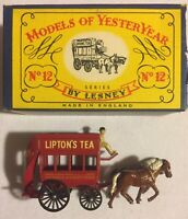 Lesney MATCHBOX Models Of  YesterYear No 12, 1900 Horse Bus with Original Box