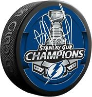 Andrei Vasilevskiy TB Lightning 2020 Stanley Cup Champs Signed Champs Puck