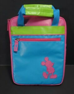 Disney Parks D-Tech Mickey Mouse Pink Blue Lime Green Tablet Mini iPad Case