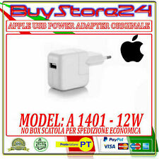 CARICABATTERIE PER APPLE MD836ZM/A A1401 12V USB POWER ADAPTOR IPHONE-IPAD NOBOX