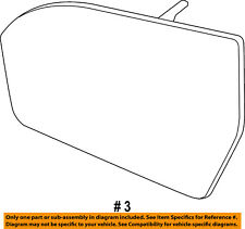 Lincoln Ford Oem 15-16 Mkc Door Rear Side View-Mirror Glass Left Ej7Z17K707E