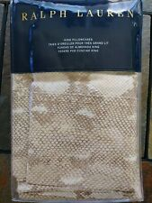 Set of Ralph Lauren NIP Python Print King Size Pillowcases