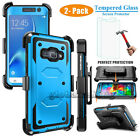 Armor Cover Phone Case& Swivel Holster Clip with Tempered Glass Screen Protector
