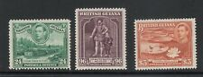 BR GUIANA: 1938-52 KGVI definitives array of better wmks/perfs/shades to $3 MLH.