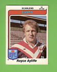 1980 EASTERN SUBURBS ROOSTERS SCANLENS RUGBY LEAGUE CARD #39 ROYCE AYLIFFE
