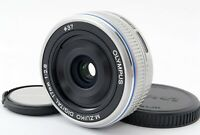 "Olympus M.Zuiko Digital 17mm f/2.8 Single focus Lens Silver ""Excellent+"" #20314"