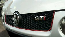 VW Lupo-Polo GTi grill trim NON FADE BEST Quality Red Stripe LONGEST LASTING Red