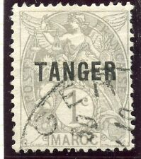 TIMBRE  COLONIES FRANCAISES / MAROC OBLITERE N° 80a SURCHARGE TANGER