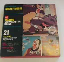GAF MICKEY MOUSE Talking View-Master Reels 3 Reels Booklet 1973