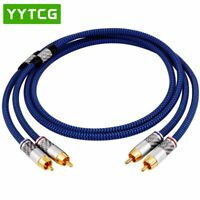 Audio Cable 2RCA to 2 RCA Male to Male With Gold-plated 6N OCC 1M 1.5M 2M 3M