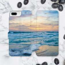 Ocean Art iPhone XS Max XR Leather Wallet Cover For iPhone 6s 7 8 Plus Flip Case