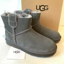 Women's UGG Boots Grey Size Uk 6 Classic Mini Suede Boxed