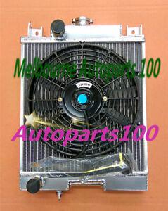 QLD 2 Rows Aluminum Radiator For SUZUKI SWIFT GTI 1.0 1.3 1.6 1989-1994 MT + Fan
