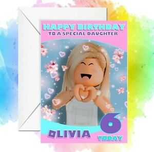Personalised Birthday card Roblox any name/relation/age