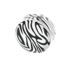 Piercing Plug Earrings Zebra Acrylic (Plastic)