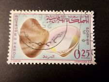 MAROC, timbre 489, COQUILLAGE, oblitéré, SHELL VF STAMP
