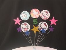 Hello kitty birthday cake topper décoration 2nd 3rd 4th 5th 6th ajouter tout âge