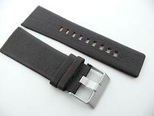 Herren Uhrenarmband Echtleder 30 mm Dunkelbraun für DIESEL DZ14.. DZ16.. usw.
