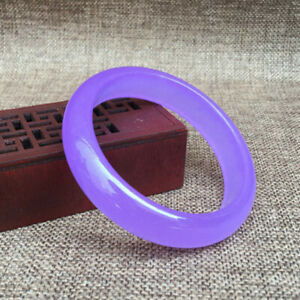 Pretty 67mm Extra Large Size Lavender Purple Jade Gemstone Bracelet Bangle AAA