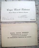 1930 MESROB NISHANIAN e LUIGI BONDINI CHIESA ARMENA PATRIARCATO DI GERUSALEMME