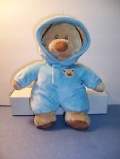 """TY LOVE TO BABY PLUFFIES BEAR BLUE NON-REMOVABLE PAJAMA'S SUIT - 2012 - 10""""  VGC"""