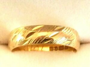 Beautiful 22ct Gold Wedding Band / Ring, Size K, Fully Hallmarked A6618