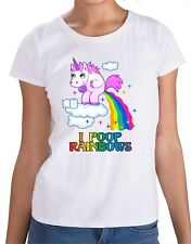unicorn T-shirt rainbow  I poop funny ladies woman's girls pink horn class fun