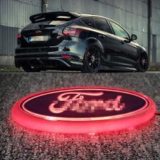 Chrome Blue Ford From Bonnet Tail Rear Logo RED LED Badge Emblem Lights 150x60mm