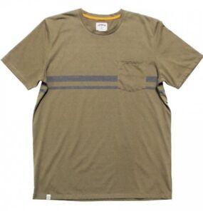 Captain Fin Oh Billy Uomo Misto Cotone T-Shirt Grande Oliva Nuovo
