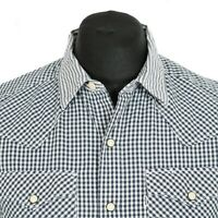 Vintage LEVI'S Gingham Popper Shirt | Check Plaid Retro Cowboy Pearl Western