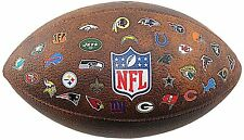 WILSON NFL 32 Team Logo Ball Ufficiale Taglia Football Americano