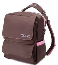 Ju Ju Be PackaBe Diaper Bag Convertible Backpack Shoulder Messenger BROWN Pink