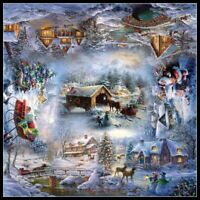 Christmas Snow - Chart Counted Cross Stitch Pattern Needlework Xstitch DIY DMC