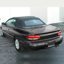 Fits: 1996-2000 Chrysler Sebring, Convertible Top, Glass Window, Black Sailcloth