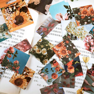 Flowers Whisper Rose Bullet Journal Decorative Diary Scrapbooking Stickers 46pcs