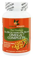 Seabuck Wonders Sea Buckthorn Oil Blend Omega-7 Complete 500 mg 120 Softgels