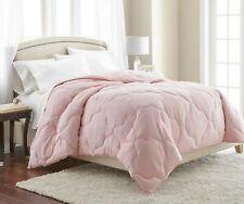 Pink Quatrefoil Quilted Down Alternative Comforter Duvet Insert King Size