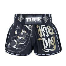 Tuff Muay Thai Shorts New Retro Style Black Singha Yantra With War Flag Xl