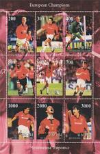 "Liga de Campeones europea ganadores Manchester United 5.5 ""x 8,5"" Mnh Hoja De Sellos"