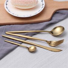 4Pcs/Set Flatware Cutlery Kitchen Stainless Steel Knife Fork Spoon Teaspoon New