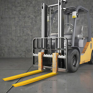 84x5.8'' Fork Extensions Forklift Pallet Fork Extensions Heavy Duty Steel