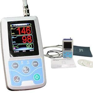 CONTEC ABPM50 NEW arm Ambulatory Blood Pressure monitor,3 cuffs,PC software CE