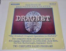 DRAGNET Police Force Radiola LP Record 1950 recording